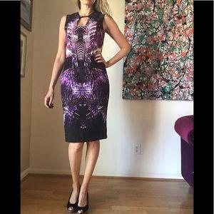 NWT Debbie Shuchat Purple Bodycon Dress